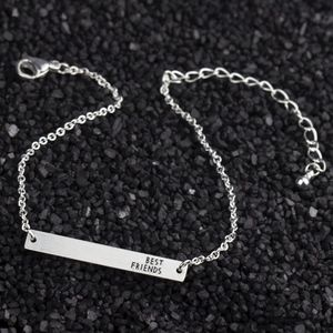 Jewelry - NWOT Silver BFF Bar Friendship Bracelet